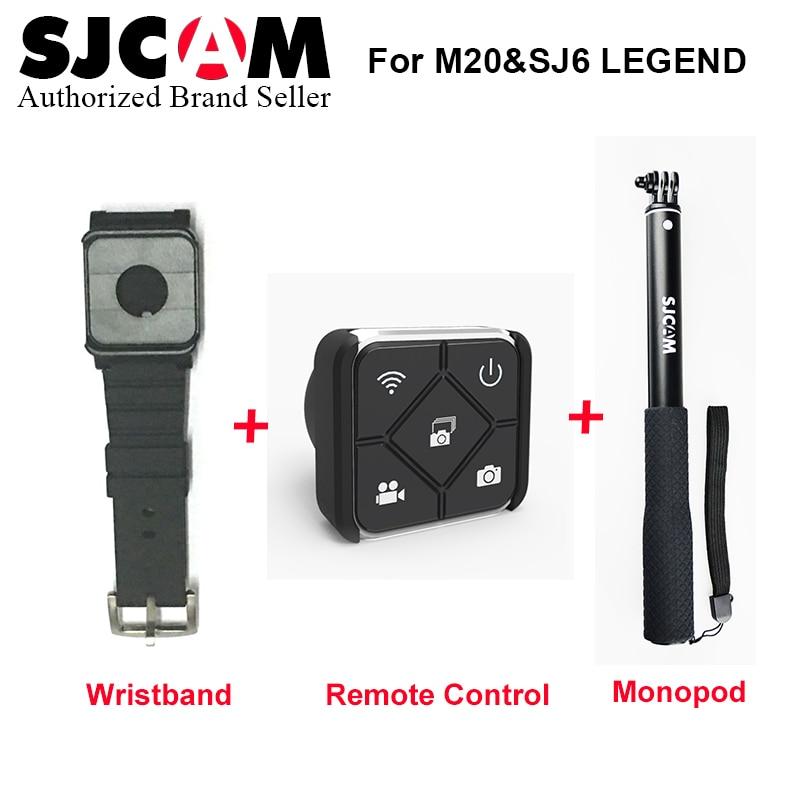 SJCAM SJ7 Star SJ6 Legend Accessories Wrist Band + Handheld Selfie Stick Remote Monopod for M20 SJ6 SJ7 Star Action Camera домашний кинотеатр lg sj6