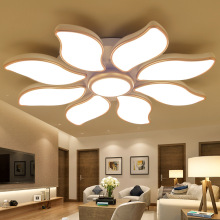 LED ceiling lamps petal shaped living room lights three dimming lights beautiful gold frame nouveau riche warm bedroom room lamp