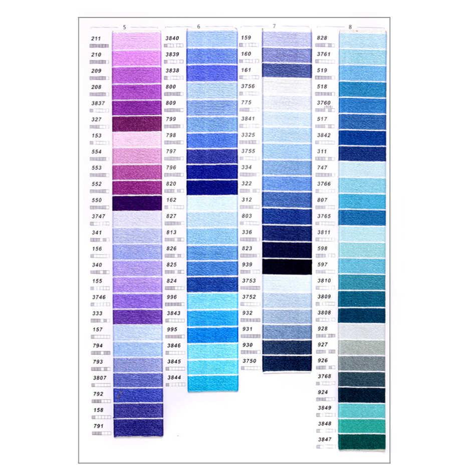 Puedes elegir cualquier color y cantidad DMC hilo de bordado Similar hilo de punto de cruz hilo de algodón