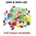 100 шт. F3 F5 DIP LED зеленый красный желтый фиолетовый синий теплый белый оранжевый супер яркий 5 мм 3 мм высококачественные бусины светоизлучающи...
