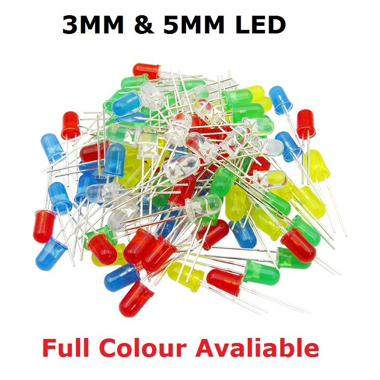 100PCS F3 F5 DIP <font><b>LED</b></font> Green Red Yellow Purple Blue Warm White Orange Super bright <font><b>5MM</b></font> 3MM High quality bead light emitting diode image