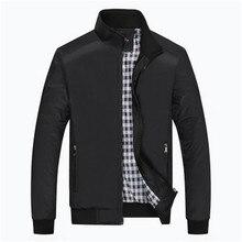 Vater geladen frühling klassische herren-jacke dünnschnitt minimalistischen große yards mittleren alters männer freizeitkleidung mantel hot größe 5XL
