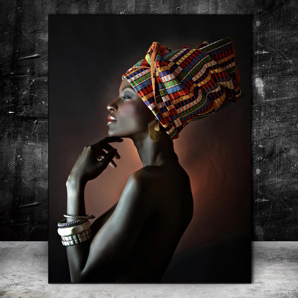 Beautiful Black Women Oil Paintings Print On Canvas Portrait Of African Wall Art Prints