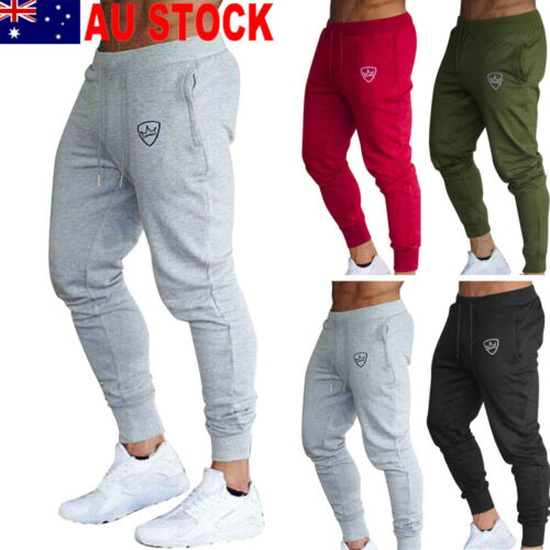 New Fashion Hot Sale Men's Solid Simple Long Pants Men Gym Slim Fit Daily Casual Trousers Running Joggers Gym Sports Pants M-XXL