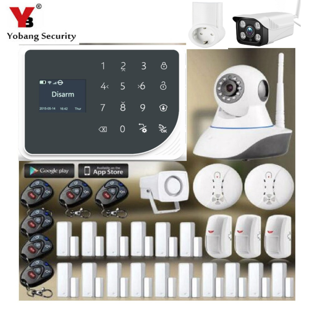 YoBang Security GSM WIFI IOS Android APP Controls Home Safely Smart Socket font b Alarm b