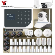 YoBang Security GSM WIFI IOS Android APP Controls Home Safely Smart Socket Alarm System Smoke Fire Alarm Controls Househeld APP.