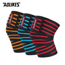 AOLIKES 1 STKS 180*8 CM Fitness Gewichtheffen Been Knie Compressie Bandjes Wraps Elastische Bandages Poverlifting Squats Training(China)