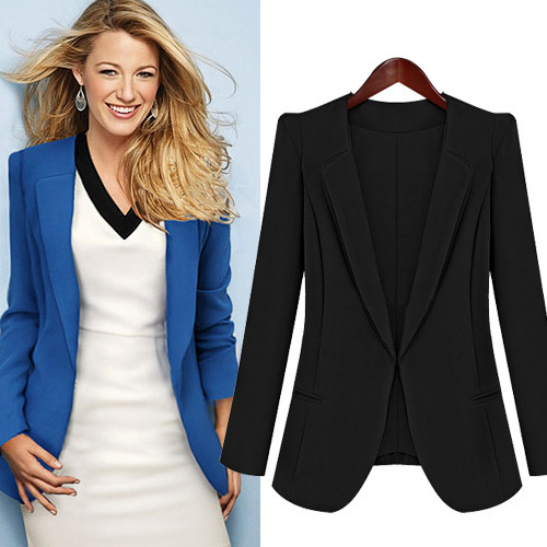 Aliexpress.com  Buy 2013 New Fashion Autumn Winter Womenu0026#39;s Outerwear Plus Big Size Blazers ...