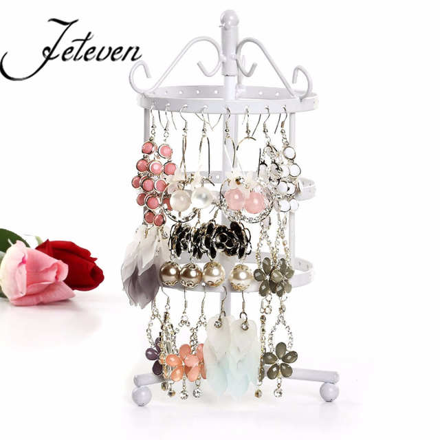 72 Holes Black Metal Earrings Jewelry Display Hanging Stand Holder