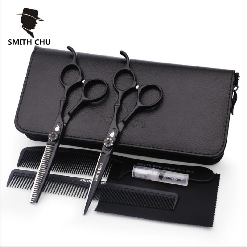 Smith Chu High Quality Cutting Scissors 6Inch 440C Stainless Steel Professional Salon Barbers Thinning Scissor Hair Scissors Set компрессоры airline компрессор x1 30л мин 7 атм серия standard ca 030 14s