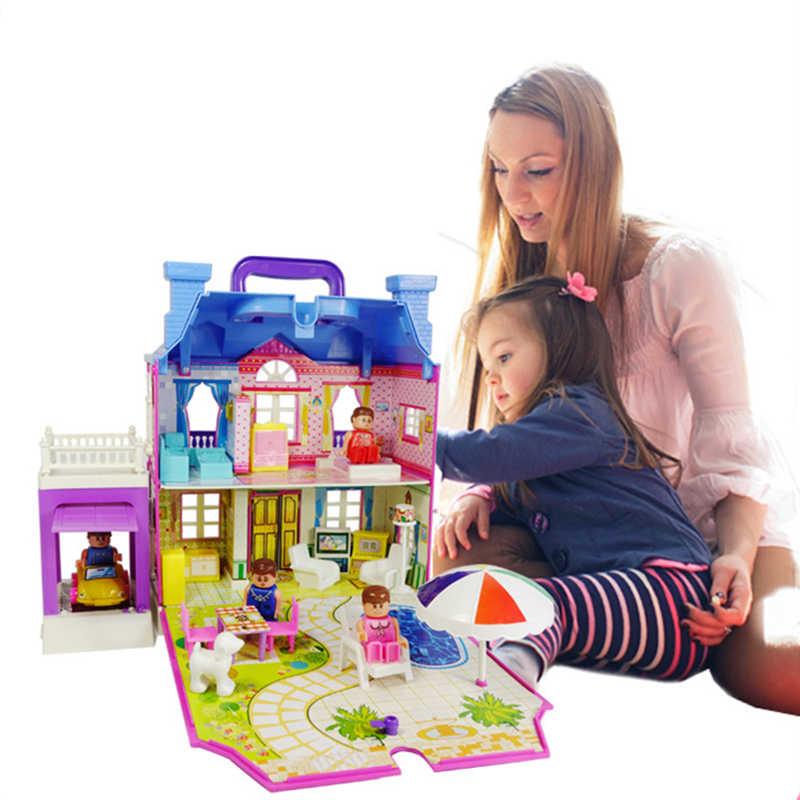 toys for children big large dolls house miniatures 1:12 miniature dollhouse accessories kit cute mini kids model china Furniture