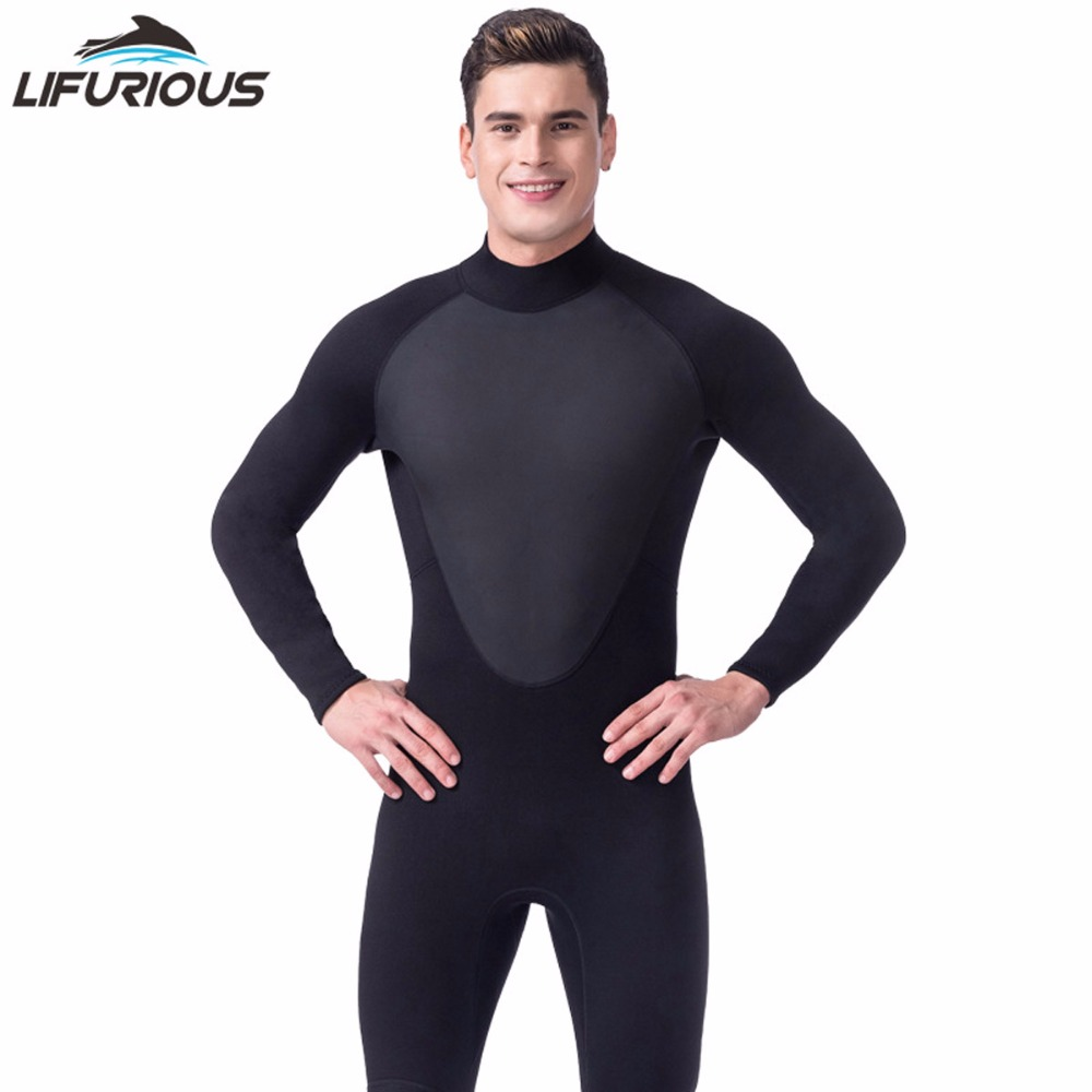 Hot LIFURIOUS Brand Spearfishing Surf Swim Equipment Swimwear Black 3mm Full Body Neoprene Scuba Dive Wetsuit Men Diving Suit globo прожектор светодиодный globo projecteur 80w 1300lm 6500k ip65 34115a