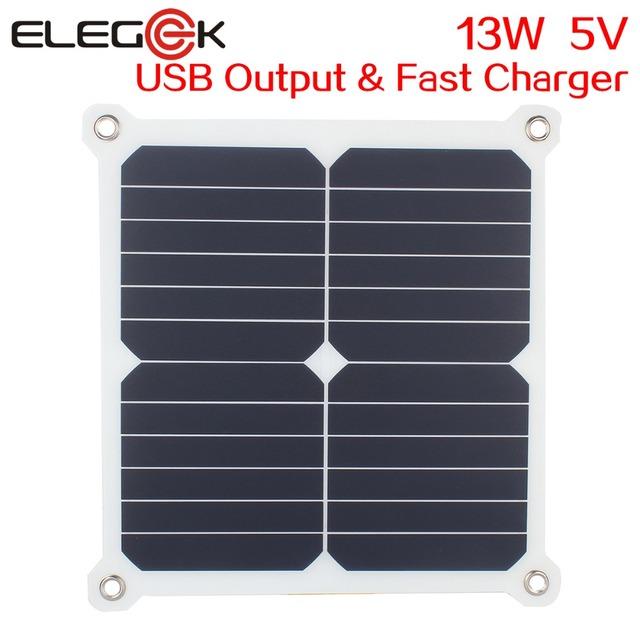 Dule ELEGEEK 13 W 5 V Portátil Semi flexible de Panel de la Célula Solar de Salida USB Cargador de Alta Eficiencia de Sunpower panel solar Freeshipping