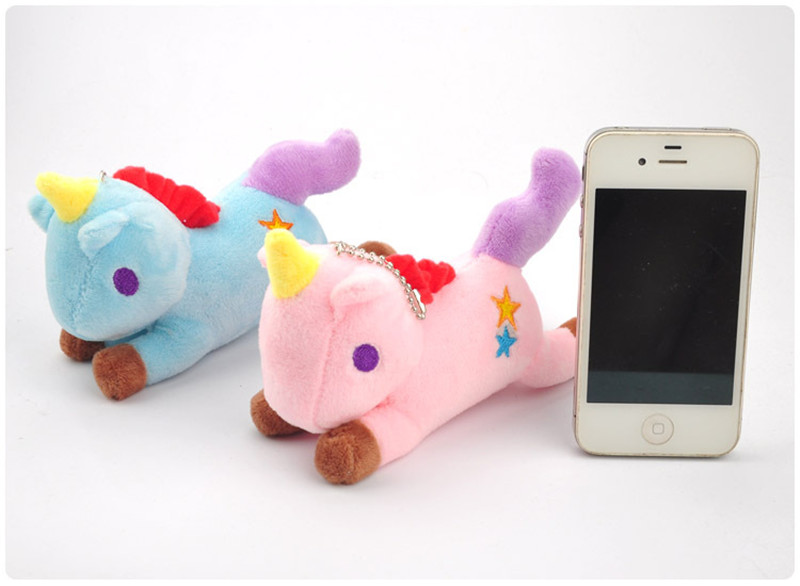 Hot Sale Rainbow Unicorn  Plush Toys Cute Anime Cartoon Unicorn Horse Animal Dolls Small Key Bag Pendants Keychain  (5)