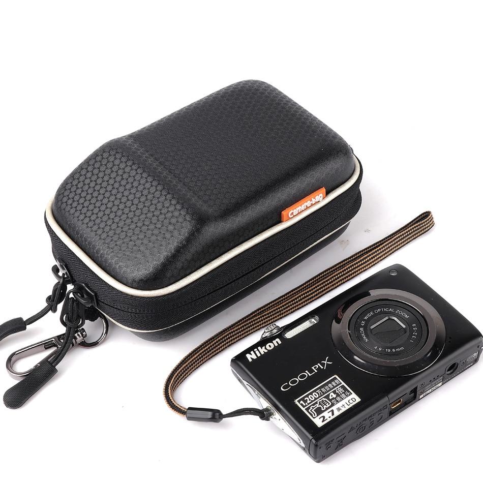 Digital Camera Bag Hard Case For Sony RX100 II III IV V DSC-RX100 Nikon S9900S W300 W100 AW130 AW120 S33 S32 L32 L31 Waist Packs ...