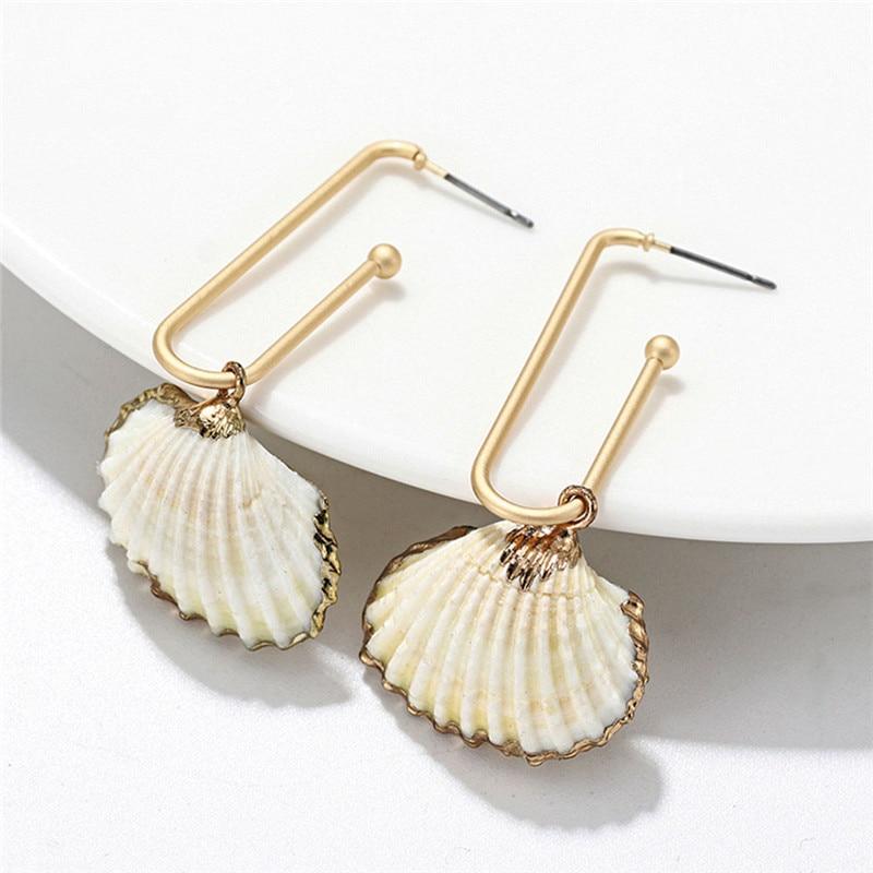 Tebatu Women Eardrop,Bohemian Natural Snails Shell Pendant Drop Earrings Beach