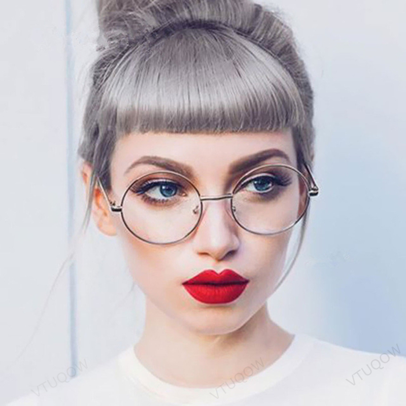 Vintage Round Glasses Frame Women Computer Blue Light Glasses Points Myopia Retro Women's Glasses Eyeglass Frame Oculos Redondo