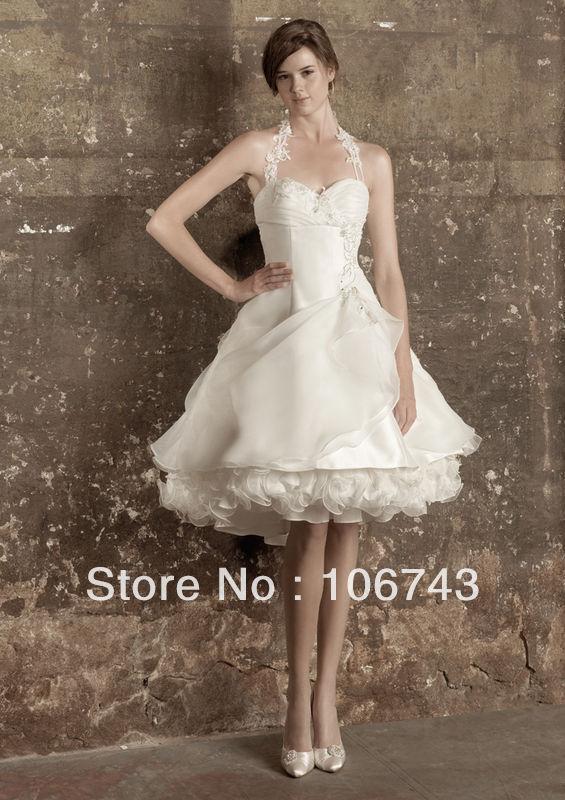 free shipping 2016 new style hot sale Sexy bridal wedding sweet princess Custom size embroidery ruffles white   Bridesmaid     Dresses