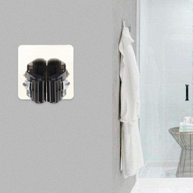 Hot Sale Bathroom Wall Mounted Mop Organizer Holder Brush Broom Hanger  Storage Rack Kitchen Tool Non