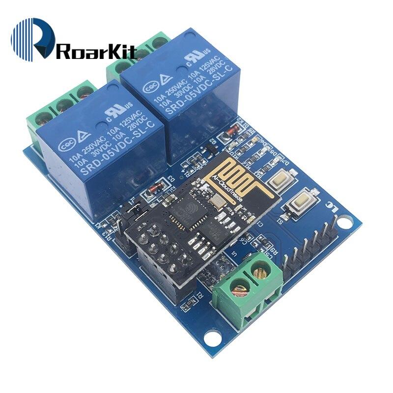 Реле канала Wi-Fi 5 в ESP8266, модуль реле канала 2 канала, релейный модуль для умного дома IOT
