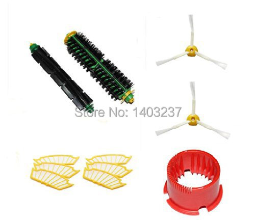 2 Side Brush Bristle Brush Flexible Beater Brush 6 Filters Cleaning Tool for iRobot Roomba 500 Series Vacuum Cleaner Accessory
