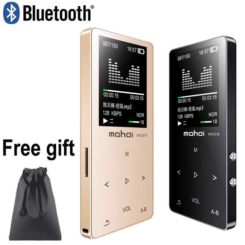 Махди HIFI без потерь Bluetooth MP3 проигрыватель с функцией записи FM видео электронная книга 4G/8G/16G радио Спорт беспроводной музыкальный проигрыватель Поддержка OTG ссылка
