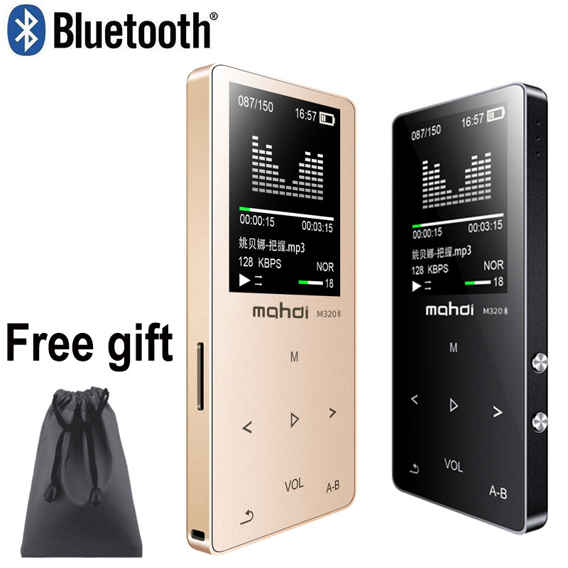 Mahdi HIFI Lossless Bluetooth MP3 Player Recorder FM Video E-book 4G/8G/16G Radio Sport Wireless Music Player Support OTG Link