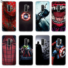 Capa de silicone tpu para samsung galaxy a5 a6 plus a8 j3 j5 j7 2017 2016 2018 marvel comics logotipo paintedcolourful capa(China)