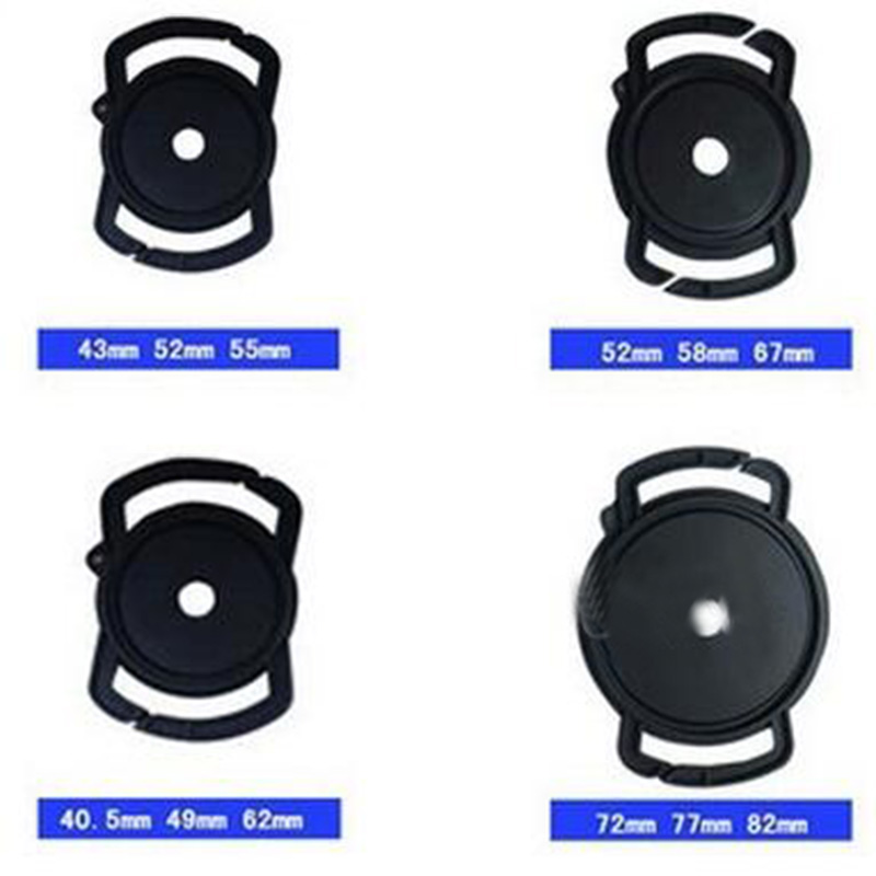 Camera Buckle <font><b>Lens</b></font> <font><b>Cap</b></font> Keeper Base Holder 40.5 52 55 58 62 <font><b>67</b></font> 72 77 82mm for canon nikons sony dlsr <font><b>Lens</b></font> <font><b>Cap</b></font> Protect Neck Strap image