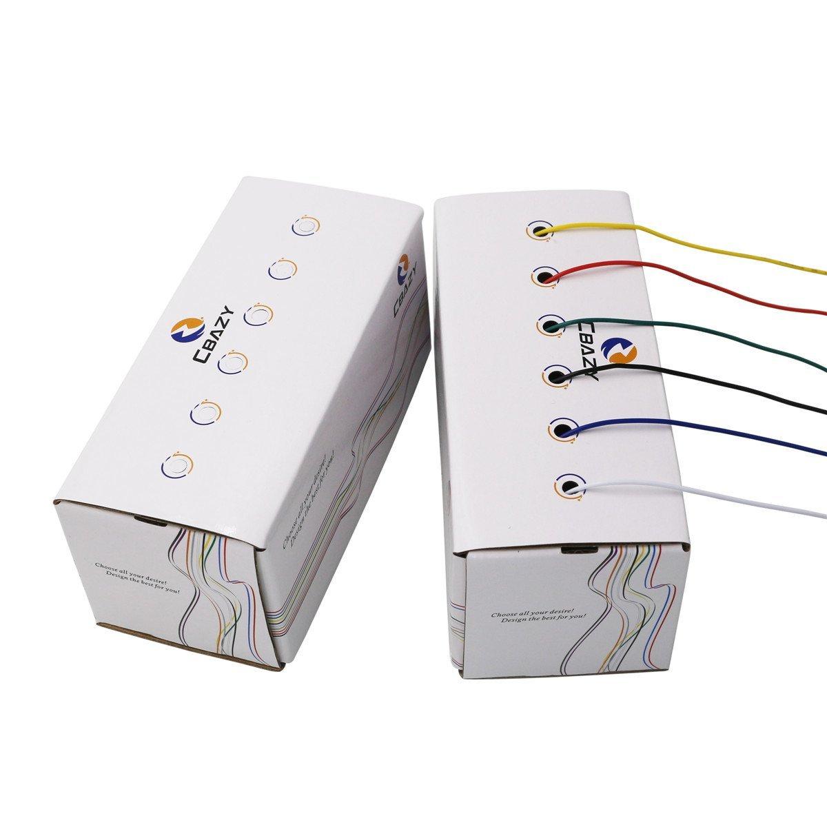 CBAZ Hook up Wire Kit (Stranded Wire Kit) 24 Gauge 6 colors 32.8 ...