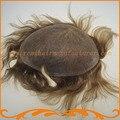 Пользовательских парик 100% индийский реми волосы отбеленные узлы база все тонких сварных моно кружево волос замена бесплатная доставка