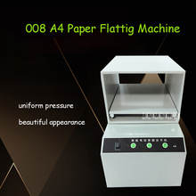 008 Fully Automatic A4 Paper Flatting Machine Financial Bill Receipt Nipping Machine Invoice Documents Files Flat Press Machine