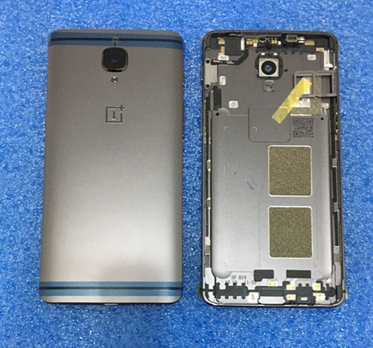 Original Back cover battery cover+ glass lens+SIM tray+ Vibrator Side Button For Oneplus 3 3T A3000 A3003 gray free shipping