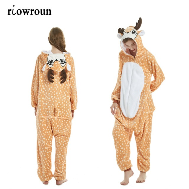 066b9b132d31 2019 Onesie Wholesale Animal Kigurumi Stitch Unicorn onesies Adult Unisex  Women Hooded Sleepwear Winter Flannel Christmas Deer