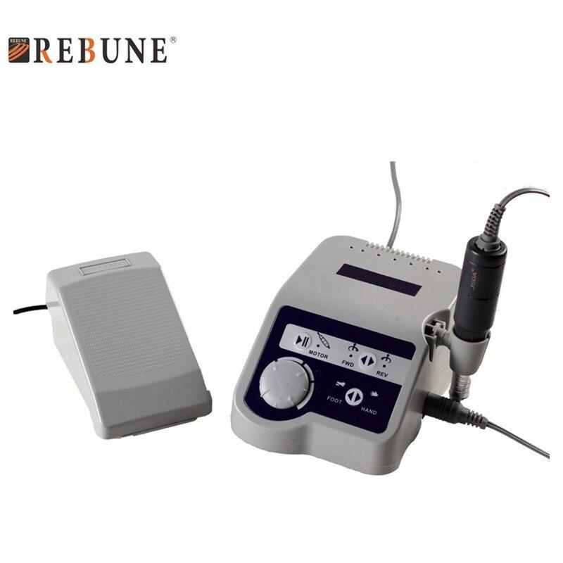 Rebune 65 Вт новый ногтей сверлильный станок высокой мощности многофункциональный 110/220 v pro электрический шлифовальный и гравировальный станок
