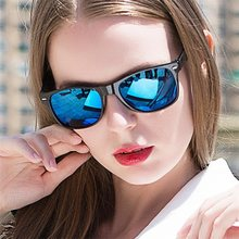 Fashion Sunglasses Men Sunglasses Men Driving Mirrors Coating Points Black Frame Eyewear Women Male Sun Glasses UV400 ZB-15(China)