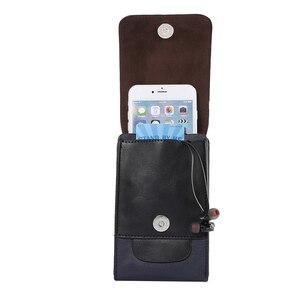 Image 3 - עור מותן פאוץ טלפון מקרה עבור סמסונג S9 S8 בתוספת S7 iPhone X XR XS מקסימום 8 7 6 6 s בתוספת Huawei P20 לייט ספורט כיסוי חגורת קליפ