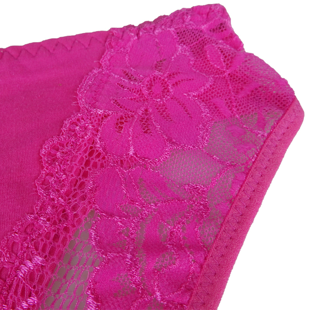 Sexy Lace 6 Candy Color Women's Cotton Panties