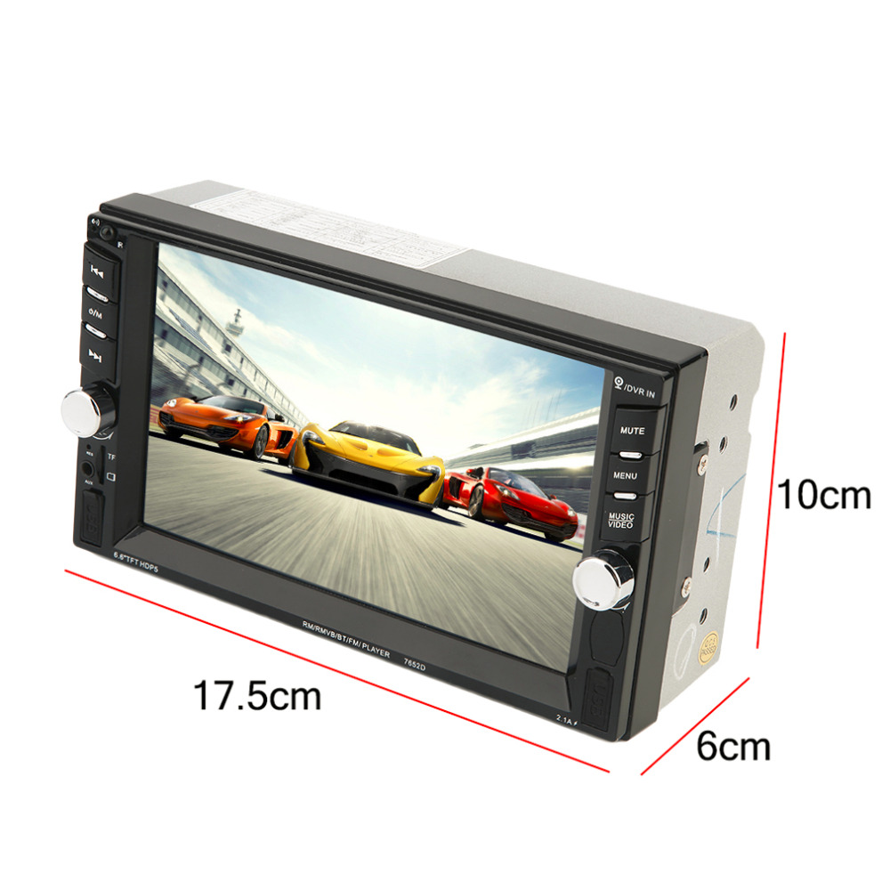 2016 New 7 Inch Touch Screen Display Auto Car DVD Player GPS Navigation Bluetooth 800*480 DVD Radio Player For Vehicle Black Hot