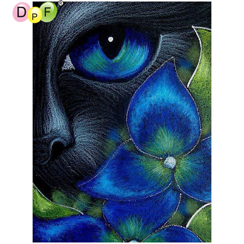 DIY 5D Full Diamond Painting Kits UK Black Cat Devil Decor Crafts ART GIFT