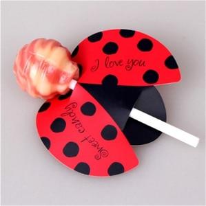Image 4 - 50/25Pcs Nice Cute DIY Santa Claus/Snowman/Penguin Paper Invitation Cards Lollipop Christmas Gift Package Decor