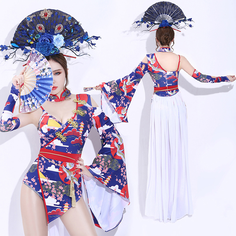 New Sexy Nightclub Singers Dance Wear Retro Chinese Style High Quality Costume For Woman