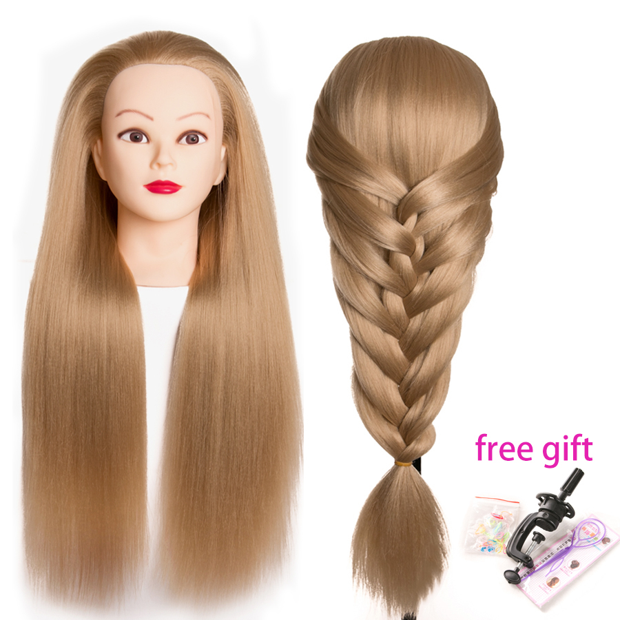 Professional 65cm hairdressing dolls head Female Mannequin Hairdressing Styling Training Head Nice high quality