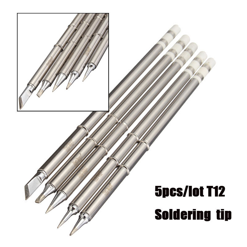 brand new 5pcs lot soldering station soldering iron tip t12 soldering iron tips solder tip for. Black Bedroom Furniture Sets. Home Design Ideas