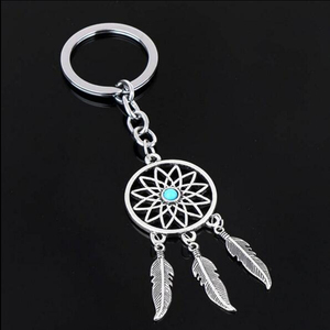 2020 NEW Fashion Feather Wind Chimes Dream Catcher Key Chain Holder Keyring Key Chain Rings Women Men Jewelry(China)