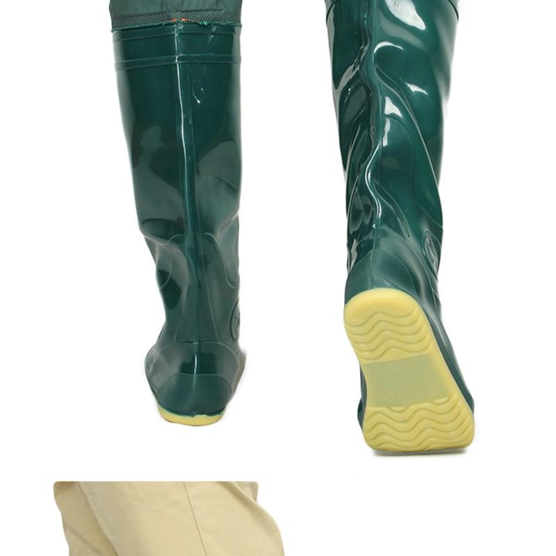 2018 yeni yeşil yumuşak taban balıkçılık botları pvc yüksek - Erkek Ayakkabıları - Fotoğraf 4