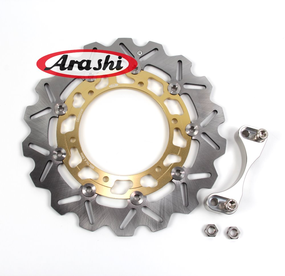 Arashi 1PCS TMAX500 CNC Rear Brake Disc Rotors For YAMAHA XP T-MAX 500 2001 2002 2003 2004 2005 2006 2007 2008 2009 2010 2011 cnc motorcycle brakes clutch levers for yamaha xp 500 t max tmax 500 tmax500 2001 2002 2003 2004 2005 2006 2007 free shipping