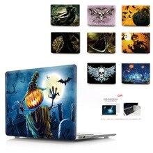 カラー印刷ハロウィンノートブックケース Macbook Air 11 13 Pro の網膜 12 13 15 インチ色 BarNew プロ 13 15 新エア 13