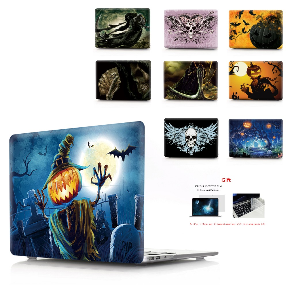 color printing Halloween notebook case for Macbook Air 11 13 Pro Retina 12 13 15 inch Colors Touch BarNew Pro 13 15 New Air 13-in Laptop Bags & Cases from Computer & Office
