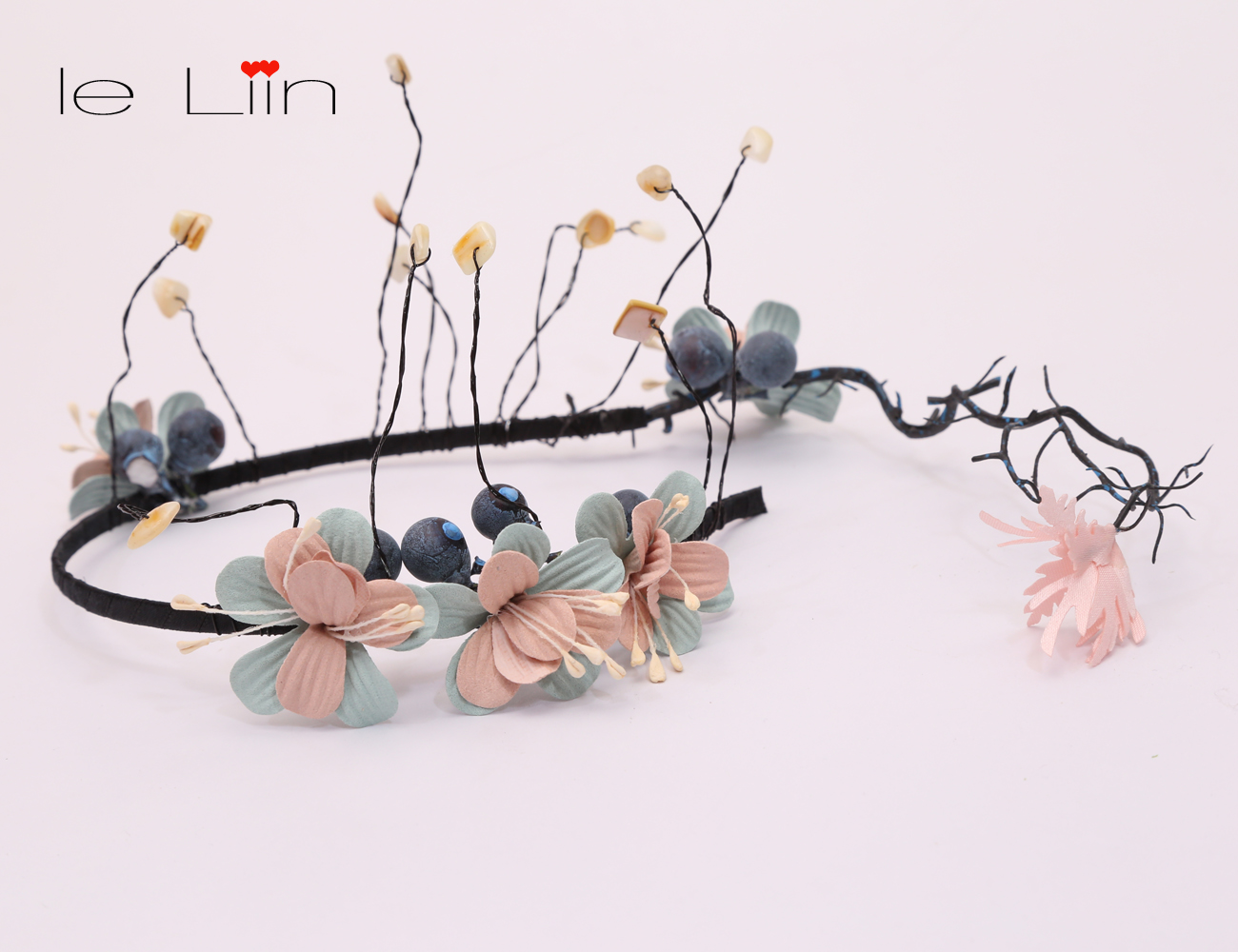 Le liin Blueberry headwreath Flower Crown Berry Wreath headband Rustic Tiara Romantic Berries Headband